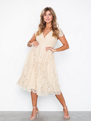 NLY Eve Lace Wrap Midi Dress