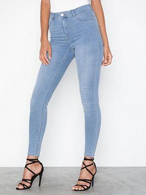 Gina Tricot Molly High Waist Jeans Ljus Blå