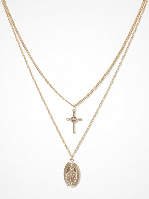 Missguided Jewelry halsband Coin Cross