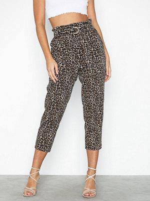 River Island Paperbag Belted Leopard Jeans