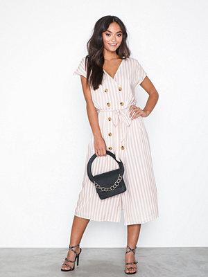 Glamorous Button Dress Stripes