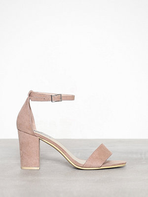 NLY Shoes Block Mid Heel Sandal Dusty Pink