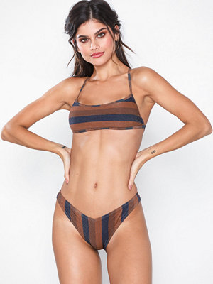River Island Stripe High Leg Brief