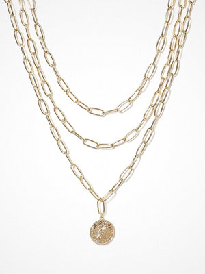 Missguided Jewelry halsband Chunky Medalion Row