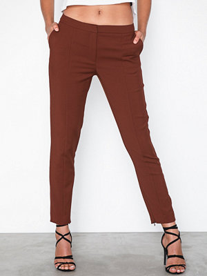 Selected Femme mörkröda byxor Slfmuse Cropped Mw Pant-Fired Brick
