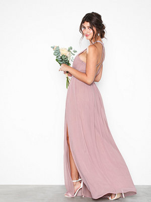 NLY Eve Halterneck Beaded Gown Dark Rose