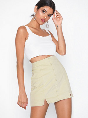 Glamorous Mini Button Skirt
