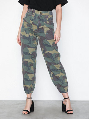 Topshop mönstrade byxor Camouflage Utility Trousers
