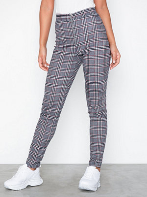NLY Trend mönstrade byxor Check Zip Pants