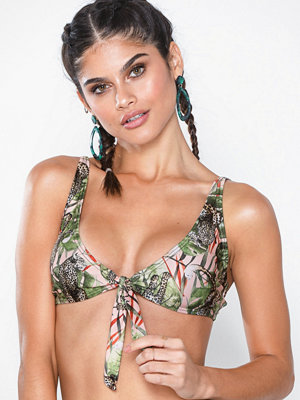 South Beach Safari Print Bikini Top