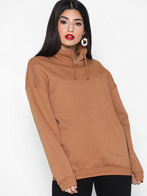 Topshop Zip Funnel Neck Sweatshirt
