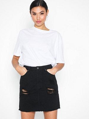 Kjolar - NLY Trend Destroy Mini Denim Skirt