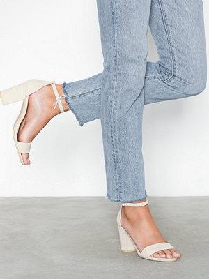 Pumps & klackskor - NLY Shoes Block Mid Heel Sandal Beige