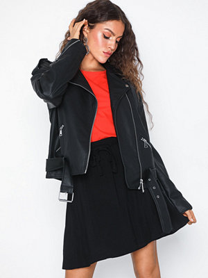 Missguided Oversized Boyfriend Biker Jacket