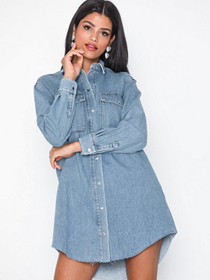 Selected Femme Slfcarla Long Denim Shirt Ka