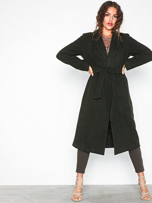Only onlAMY Sharon Long Wool Coat Cc Otw Grön