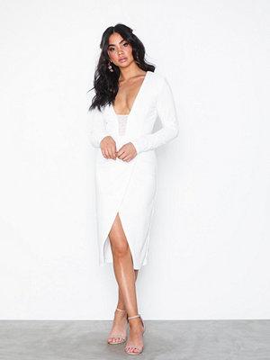 Rare London Bodycon Wrap Plunge Dress