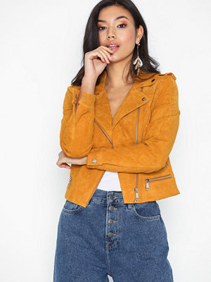 Vero Moda Vmroyce Short Suede Jacket Noos Orange