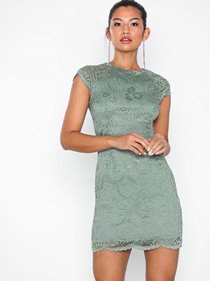 Only onlSHIRA Lace Dress Noos Wvn Grå