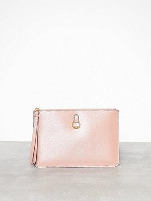 Lauren Ralph Lauren persikofärgad kuvertväska Pouch Wristlet Large Rosa