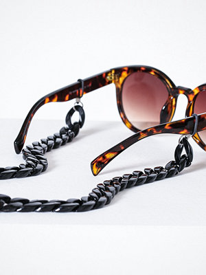 Pieces Pccarrie Sunglass Chain Svart