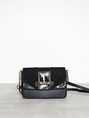 Topshop svart axelväska Cheetah Cross Body Bag