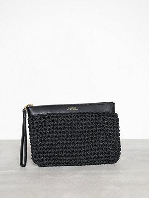 Lauren Ralph Lauren svart kuvertväska Pouch Wristlet Large