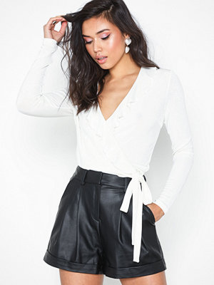 NLY Trend Frill Wrap Top