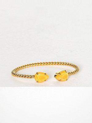 Caroline Svedbom armband Mini drop bracelet Gul