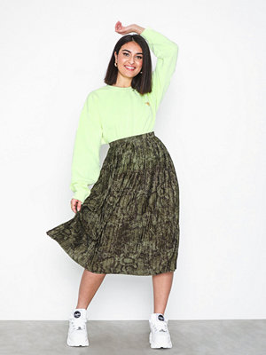 River Island Jersey Snake Pleated Skirt
