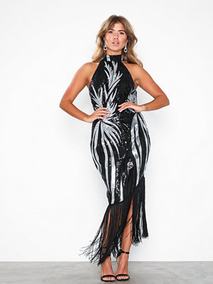 NLY Eve High Neck Fringe Dress