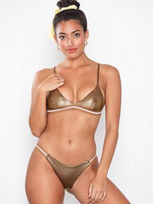 Topshop Metallic Rib Tanga Bikini