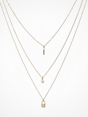 River Island halsband Padlock Layered Necklace