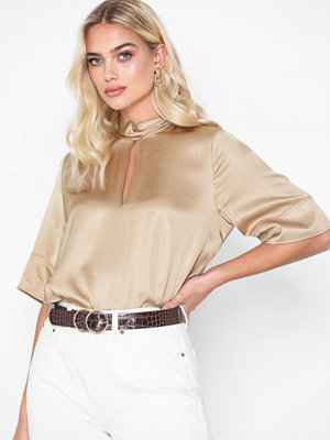 Hope Twist Shirt Beige