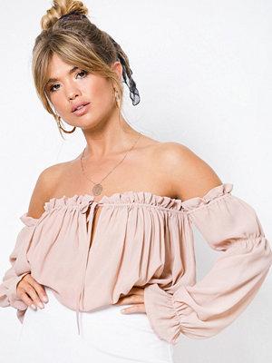 NLY Trend Soft Off Shoulder Blouse Rosa