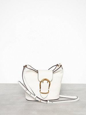 Lauren Ralph Lauren vit axelväska Small Bucket Crossbody