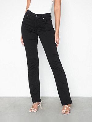 Lauren Ralph Lauren svarta byxor Prm Straight-Straight-Pant