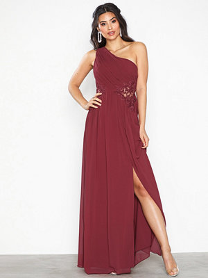 Little Mistress One Shoulder Lace Maxi Dress