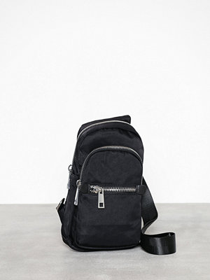 Topshop svart ryggsäck Warsaw Black Nylon Backpack