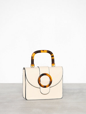 Topshop vit axelväska Capri Buckle Cross Body Bag