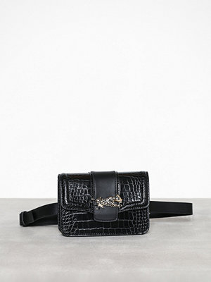 Topshop svart axelväska Cheetah Belt Bag