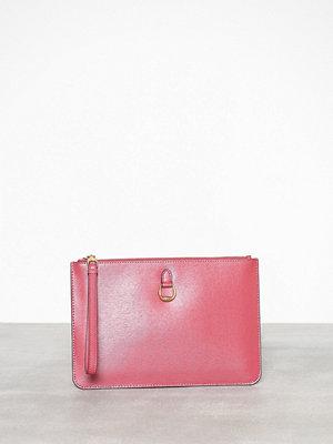 Lauren Ralph Lauren rosa kuvertväska Pouch Wristlet Large Raspberry