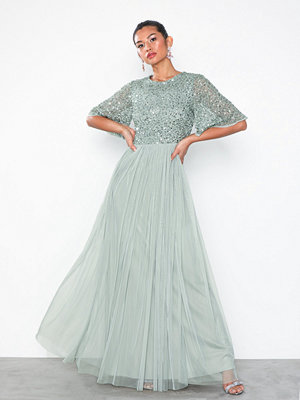 Maya Round Neck Delicate Sequin Dress