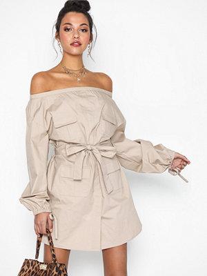 NLY Trend Off Shoulder Cargo Dress