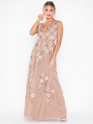 Maya Plunge Neck Cami Maxi Dress