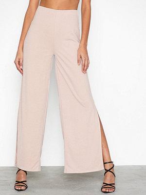 NLY Trend omönstrade byxor Slit Wide Pants
