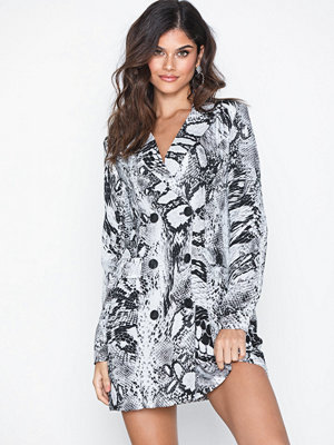 Missguided Snakeskin Blazer Dress