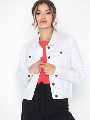 Noisy May Nmdebra L/S White Denim Jacket Noos