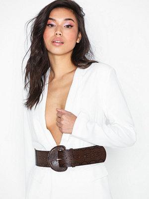 Bälten & skärp - NLY Accessories Choco Snake Belt