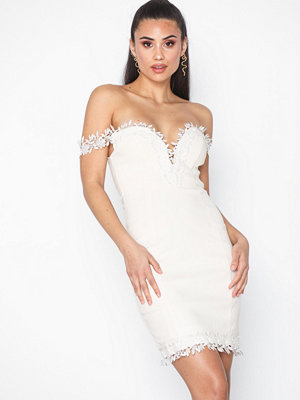 Rare London Croshet Trim Bardot Dress